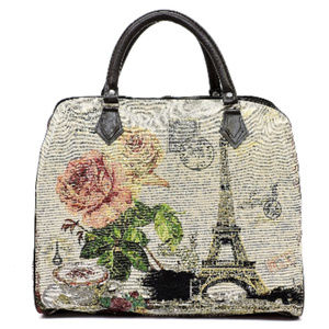 Handbags - Paris Theme Canvas Travel Duffel Bag #2